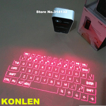 virtual projection laser keyboard magic cube mini touch bluetooth to computer android ios(Hong Kong)