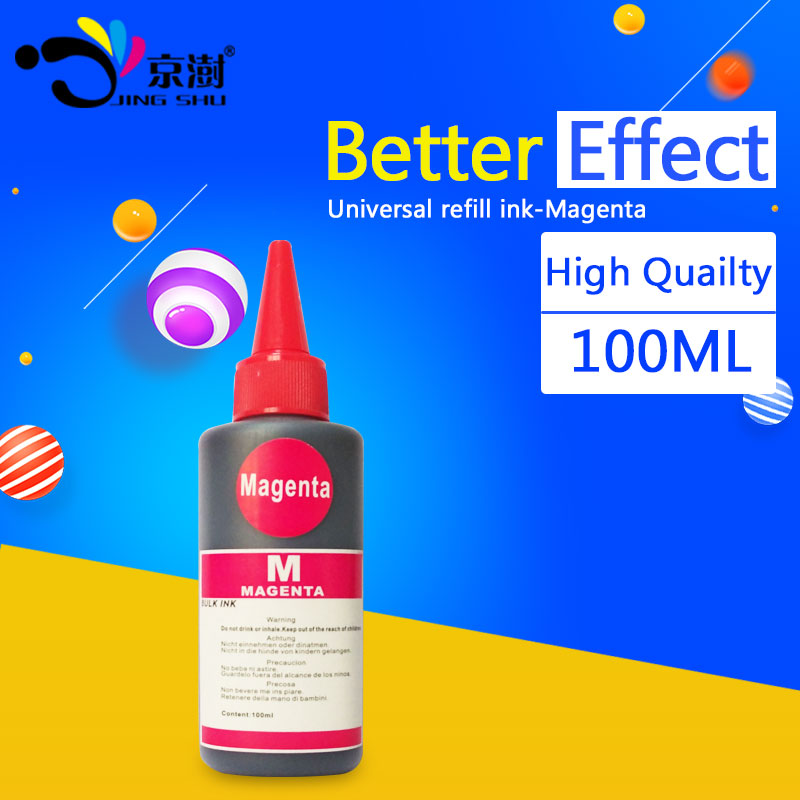 1bottle 100ml Magenta universal refill ink kit dye ink compatible for hp for canon for brother for Epson printer ink all models(China (Mainland))
