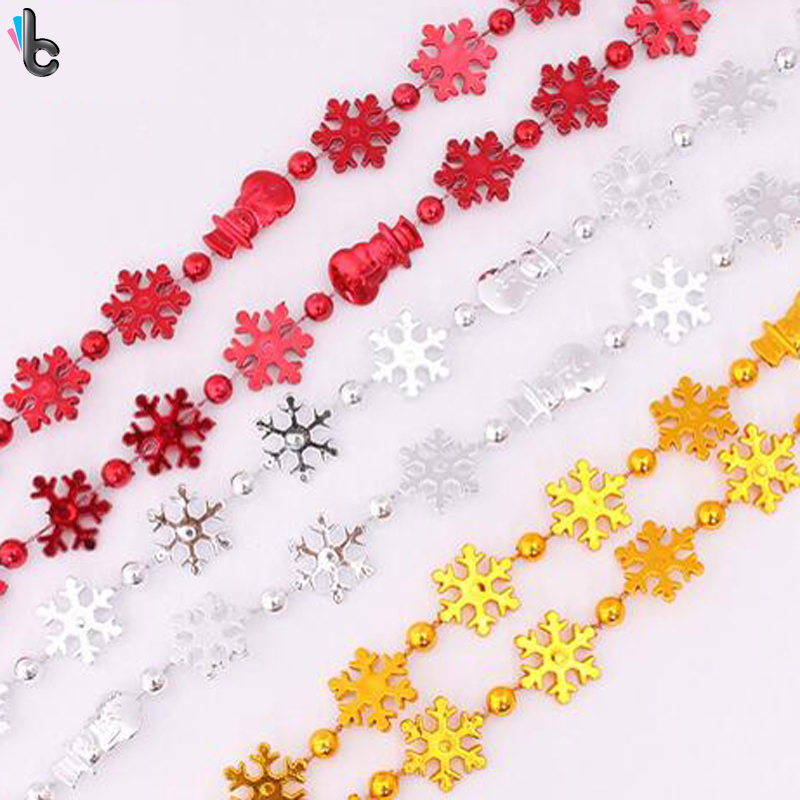 Christmas Chain String Decoration Snowflake Snowman Pattern Wedding Party Showcase Resturant Supplies 2.7m(China (Mainland))