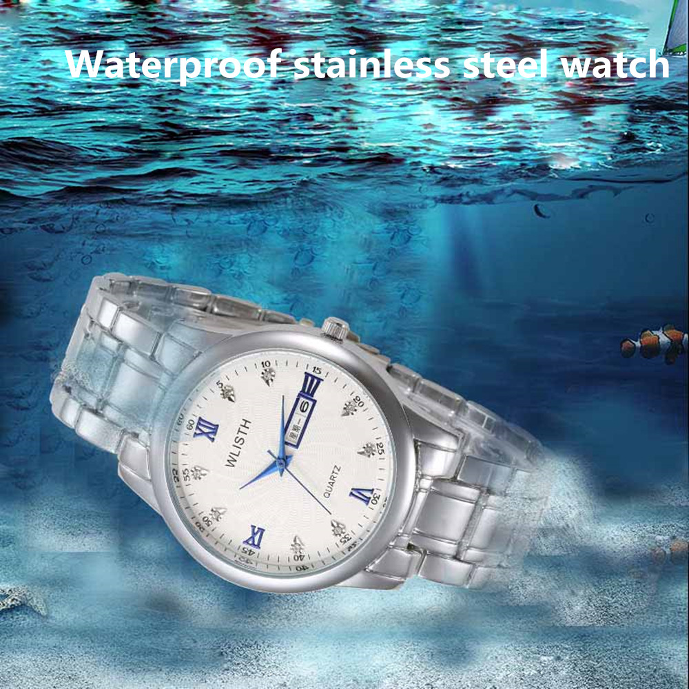 WLISTH men Watches Top Brand Luxury Men Military Wristwatches Full Steel Male Sports Watch Waterproof Relogio Masculino Montre(China (Mainland))