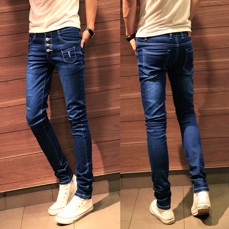 U.S. and European latest design men's jeans pants feet domineering fashion explosion models genuine factory direct free shipping(China (Mainland))