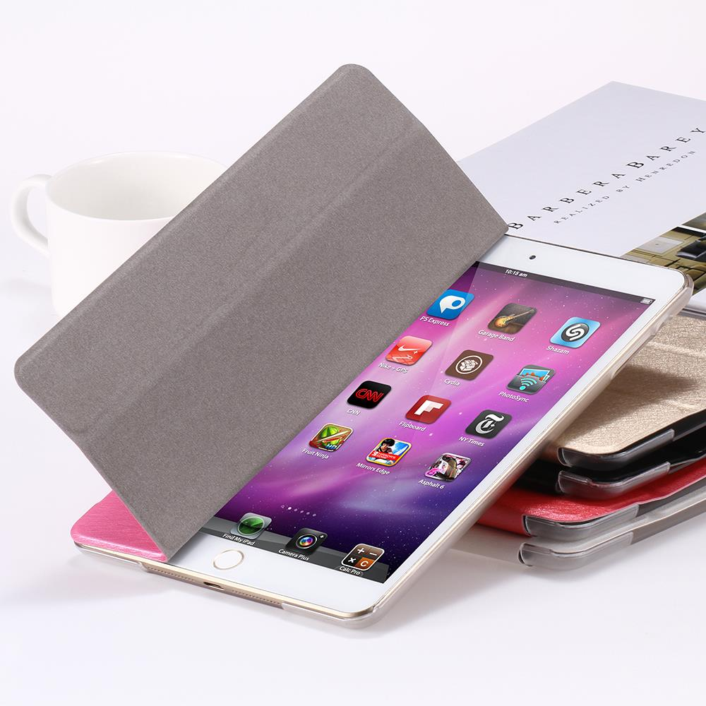 For ipad 5 6 Transparent Clear PU Leather Cover for ipad Air Air2 Tablets Accessories Luxury
