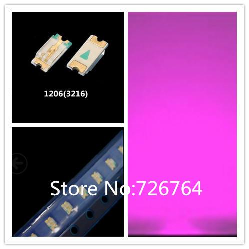 Wholesale 1000pcs SMD SMT 1206 Pink Super bright LED lamp light High quality New(China (Mainland))