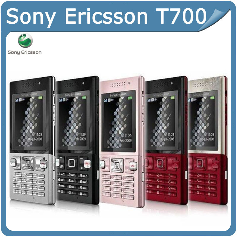 Freeshopping original Sony Ericsson T700 Cellphone with bluetooth USB java mp3 player Cheap moblie phone(China (Mainland))