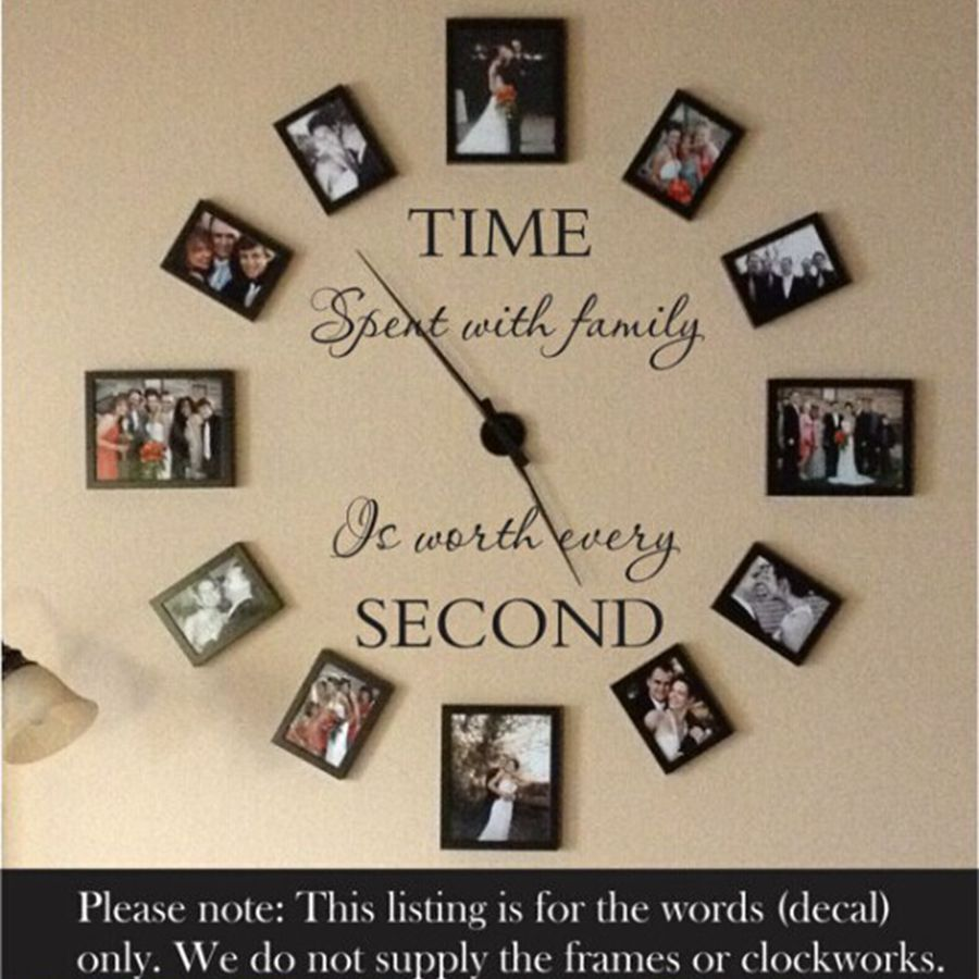 Modern home wall decal - family sticker modern stickers decor , including photo frames f2063 walls tale store