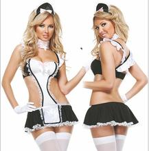 2016 women Maid sexy lingerie hot within Temptation sexy costumes babydoll erotic lingerie cosplay sexy lingerie ST952
