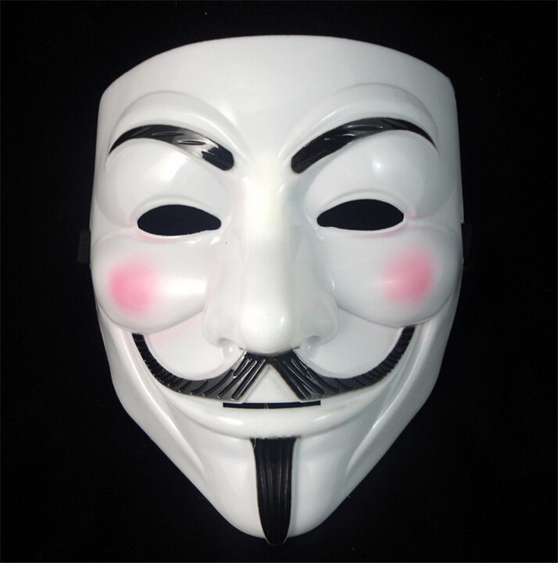 1PCS Party Masks V for Vendetta Mask Anonymous Guy Fawkes Fancy Dress Adult Costume Accessory Party Cosplay Masks(China (Mainland))