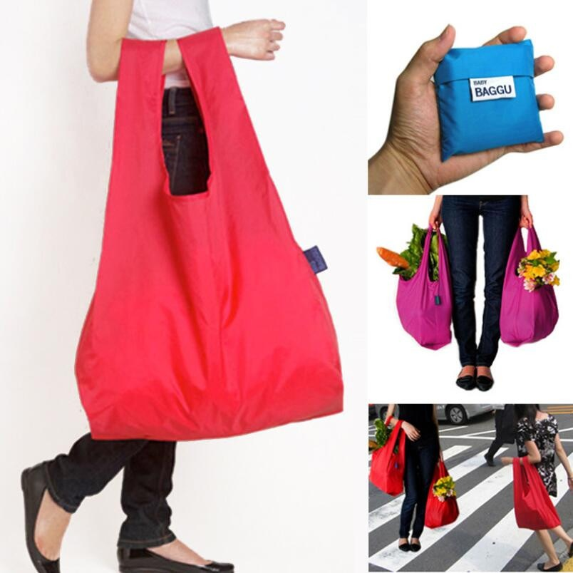 Durable 1 PC Supermaket Shopping Cart Reusable Folding Portable Handle Nylon Bag(China (Mainland))