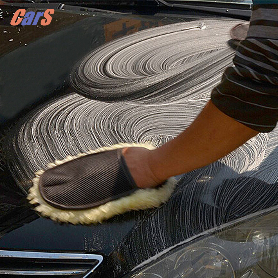 BEST Car Cleaning Cloth Wool Glove Wash Cleaning Supplies for Car Accessories microfiber car wash car cleaning(China (Mainland))
