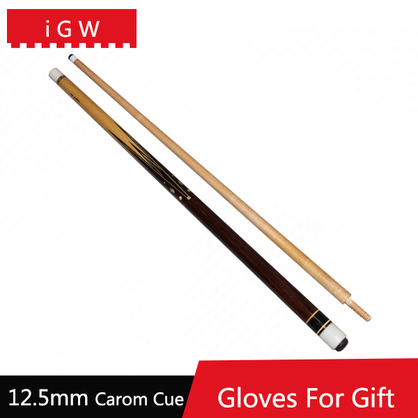 2016 New iGW Maple Carom Cues 12.5mm Tips 17oz 1/2 Split Billiard Cue Stick Forepart Length 70.4cm Butt Length 74.4cm China(China (Mainland))