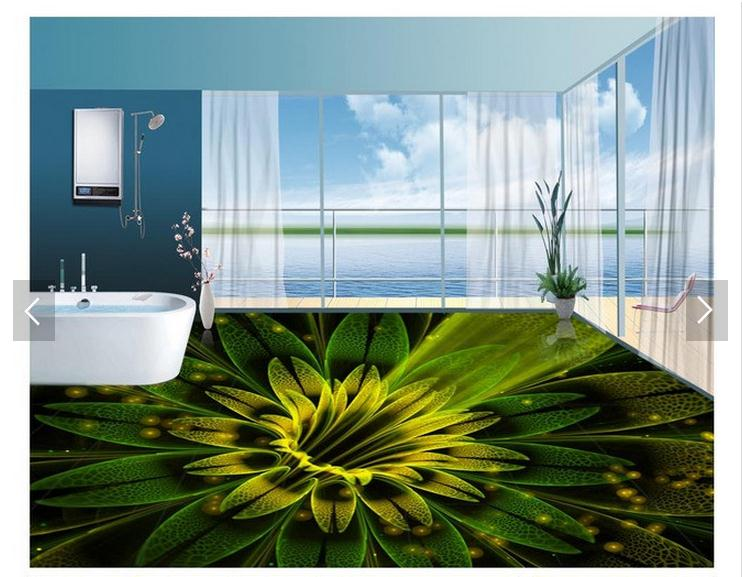 Customized 3d photo wallpaper 3d pvc floor painting for Living room 3d tiles