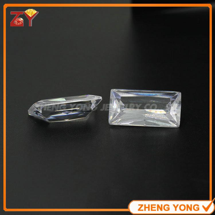Wholesale Semi Precious Stone 14*12mm Rectangle Cut Synthetic White Cubic Zirconia Gemstone(China (Mainland))