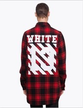 2015 Tyga cool oversized T shirts Tee men hip hop red font b Tartan b font