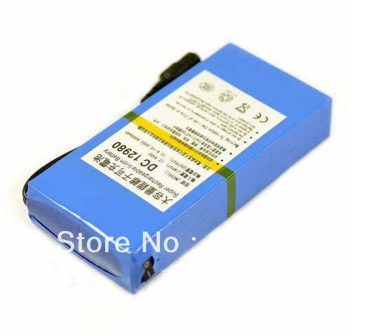 Free Shipping Hot Sale 12V Portable 9800mAh Li-ion Super Rechargeable Battery Pack Portable For CCTV(China (Mainland))
