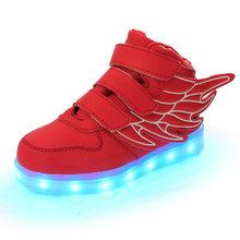 ילדי LED נעלי סלי בני בנות תאורה זוהר נעלי סניקרס הזוהר עם אור בלעדי Enfant ילדים עד LED כפכפים(China)