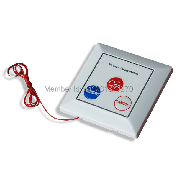 Wireless emergency calling button with rope,wireless calling system ,wireless call button,waiter call(China (Mainland))