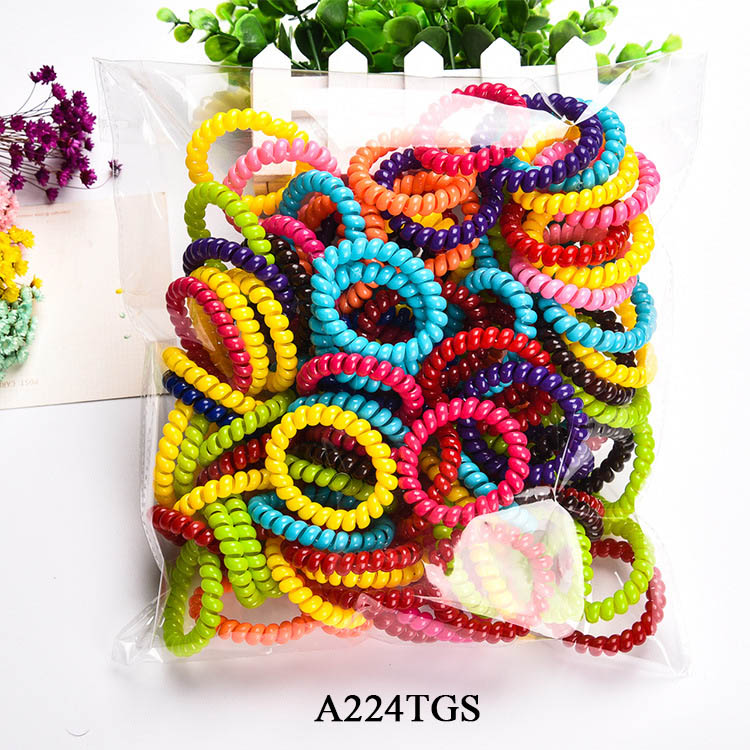 5cm 10Pcs/Lot Fashion Cute Candy Color Hair Jewelry Headbands Telephone Line Hair Rope for Women Hair Band Free Shipping(China (Mainland))