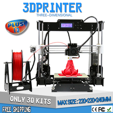 Anet Upgradest A6 Big Size High Precision Reprap Prusa i3 DIY 3D Printer Kit with Aluminium