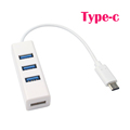 Driver free USB 3 1 Type C port to USB 2 0 HUB 4 port RJ45