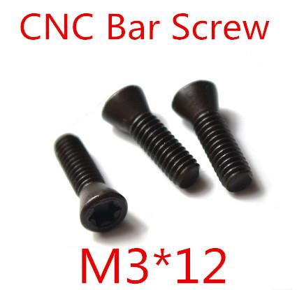 50pcs M3 x 12mm M3 12 Insert Torx Screw CNC Bar Replaces Carbide Inserts CNC Lathe