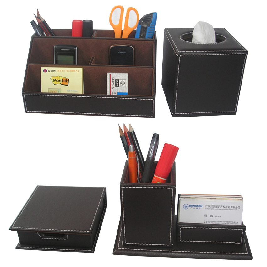 Ever perfect 4pcs set office desk stationery accessories - Desk set organizer ...