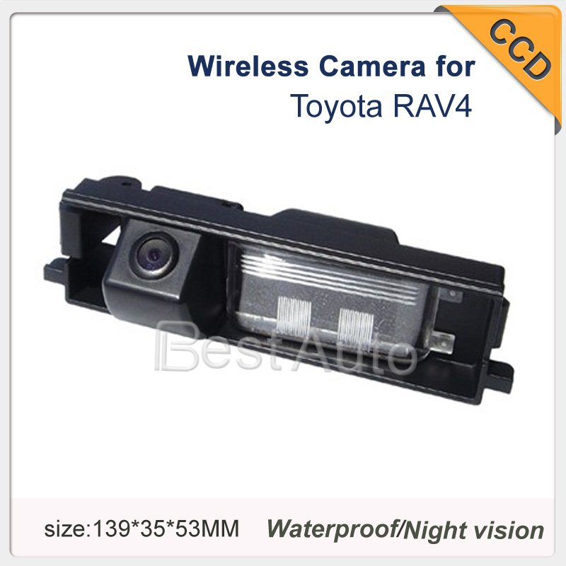 Free shipping car rear camera For RAV4 HD Car rear view camera Wireless Night vision CCD 170 degree Parking assistance Security(China (Mainland))