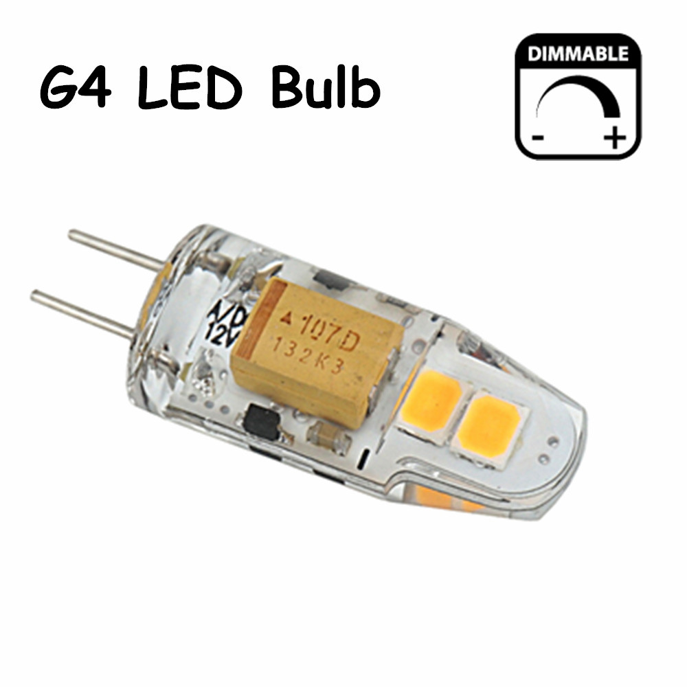 5pcs/lot Dimmable G4 LED 12V Bulb Light 150lm 360 Degree Beam Angle Lamp Support Electronic Transformer(China (Mainland))