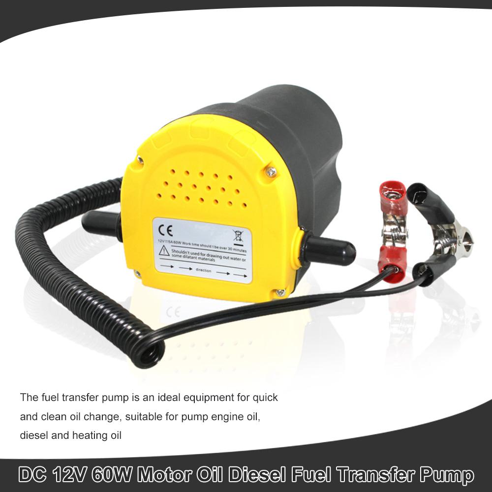 Car Oil Extractor Pump DC 12V 60W Fuel Transfer Pump Car Motorbike Diesel Fluid Scavenge Oil Liquid Exchange Transfer Oil Pump(China (Mainland))