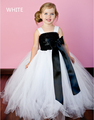 5 Color new Ribbon Bow 2T 10Y White Flower Girl Tutu Dress For Birthday Photo Wedding