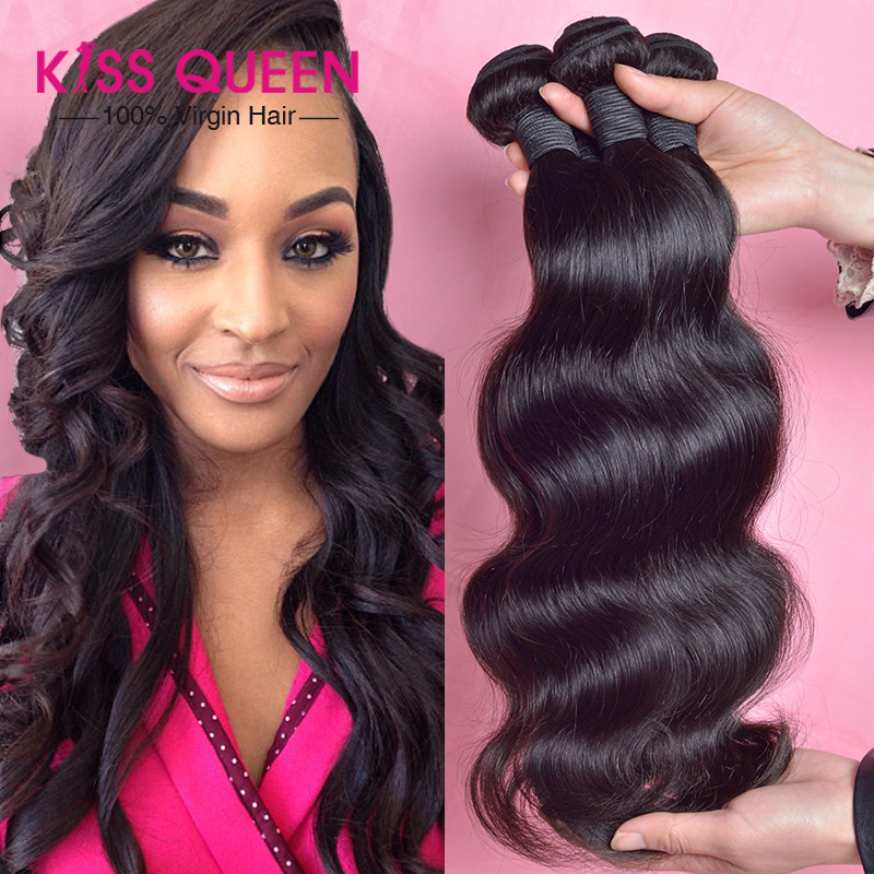 "Super Sale 6A Peruvian virgin hair body wave 3 pcs lot Queen hair products cheap thick peruvian hair weave deals 8-30"" No tangle(China (Mainland))"