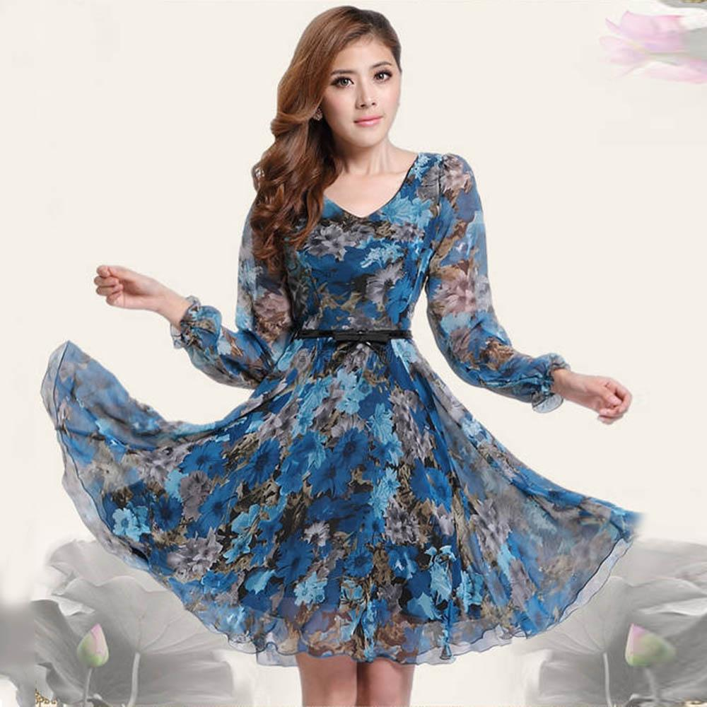 Женская платье из шифона