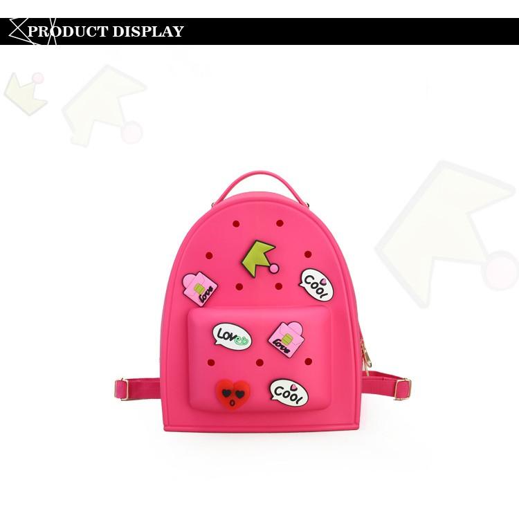d42949d81117 Wholesale Women Jelly Graffiti Backpacks Designer Girls Pink Bag ...
