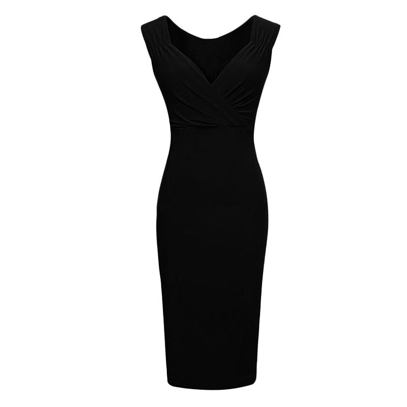 Sexy Women Pencil Office Dress OL Plunge V Neck Midi Length Slim Bodycon Party Summer Dress 2015 Vestidos Femininos X*USE3315(China (Mainland))