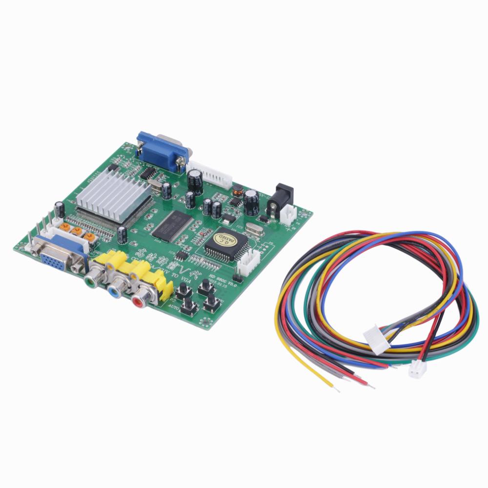 1 Set New RGB CGA EGA YUV to VGA HD Video Converter Board Moudle HD9800 GBS8200 hot new(China (Mainland))