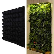 Buy 64 Pocket Hanging Vertical Garden Planter Indoor Outdoor Herb Pot Plant Living Garden Bag Gardening Green Field Grow Pocket for $25.97 in AliExpress store