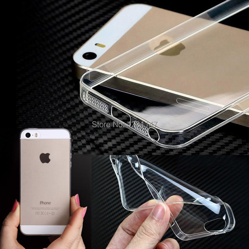 free shipping 2014 new 0.3mm Crystal Clear Soft Silicone Transparent TPU Case cover for iphone 5 5S 4 4s(China (Mainland))