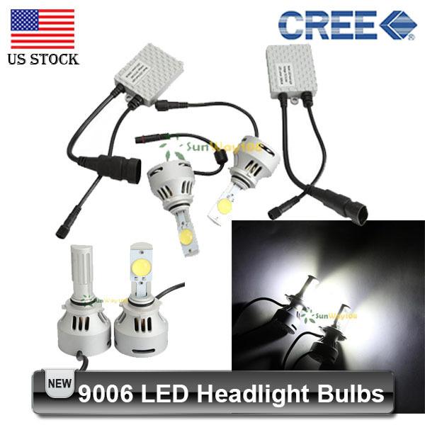 2PCS High Power 64W 9006 CREE LED Headlight Bulbs Car Head Light Bulb 3200lm White 6500K Led Head lamp(China (Mainland))