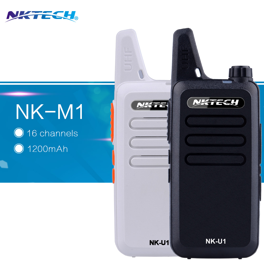 2pcs NKTECH NK-U1 Mini Walkie Talkie UHF 400-470MHz 5W 16 Channels handheld radio Transceiver Two-way Radio 1500mAh BatteryI(China (Mainland))