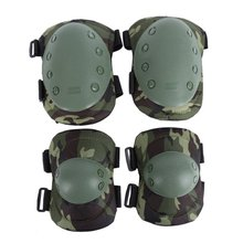 Tactical Military 2* Elbow Brace + 2* Knee Protective Pads Paintball Skate Airsoft Combat(China (Mainland))