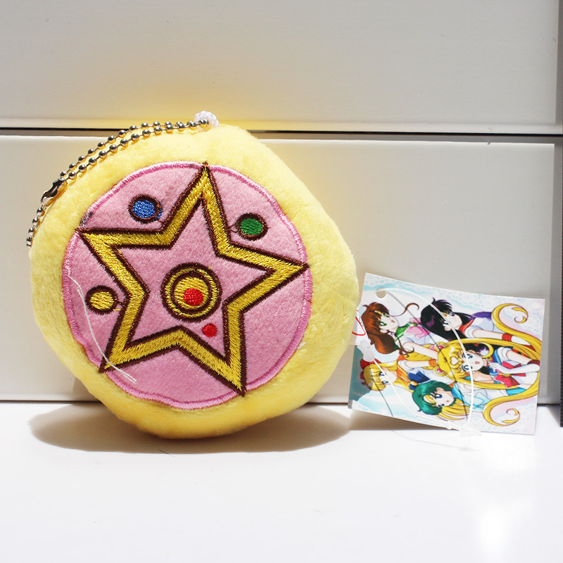 50pcs/lot Anime Sailor Moon Stuffed Plush Toys Backage Pendants With Ring 8cm Free Shipping<br>