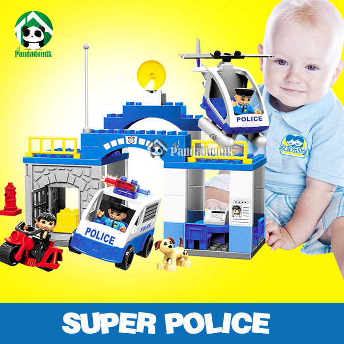 Baby Toy Building Blocks Super Police Compatible with lego duplo Building Toys Classic Toys Learning Education(China (Mainland))