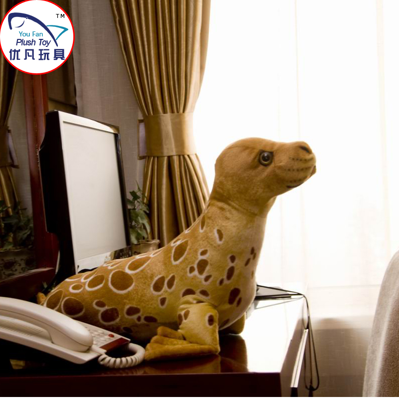 2016 Hot seal toy stuffed animal plush material soft toy seal coffee color 55cm length decoration toy gift(China (Mainland))