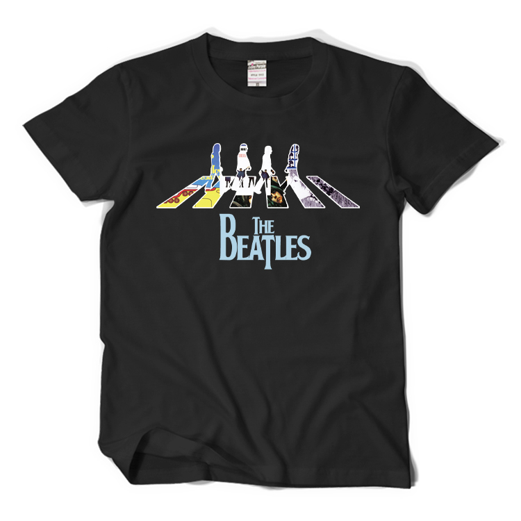 New The beatles T-shirt abbey road ROCK Yesterday men t shirt Cotton Summer Loose women Hip Top Tees tops(China (Mainland))