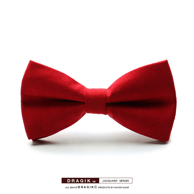Free shipping 2015 New fashion solid style series bow tie suede fabric butterfly for unisex(China (Mainland))