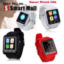 Bluetooth Smart U80 Watch BT-notification Anti-Lost MTK WristWatch for iPhone 5/5S/6/6S Samsung S6/Note 3/Note 5 Android Phone