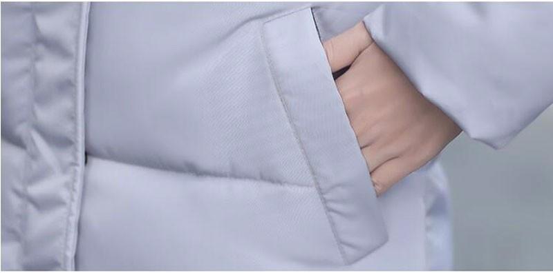 Скидки на 2016 Новая Зимняя Утолщение Женщины Парки Ватные Куртки Верхняя Одежда Мода Хлопка-ватник Средней длины Пальто pw0460