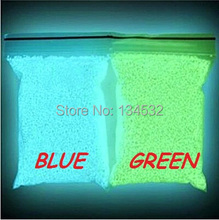 Luminous sand Dream Fairy Glow at night gravel Green Blue color Fish tank Party Decoration art DIY gift toy Fluorescence stone (China (Mainland))