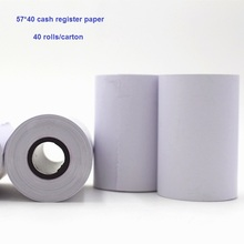 Buy 57*40 cash register paper small roll pos 58mm receipt printer 57mm thermal machine printing pos printer paper rolls for $52.00 in AliExpress store