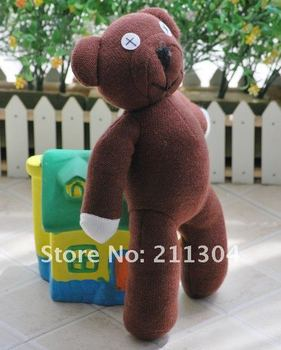 Free Shipping 9'' tall Mr Bean Teddy Bear Animal Stuffed Plush Toy, Brown Figure Doll Child Christmas Gift Toys Wholesale(small)