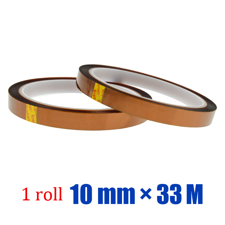 10 roll 0.4 inch * 108ft High Temperature Resistant Polyimide Tape for BGA PCB SMT 3D Printer(China (Mainland))